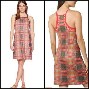 Prana Ardor Dress Carmine Desert Geometric Print